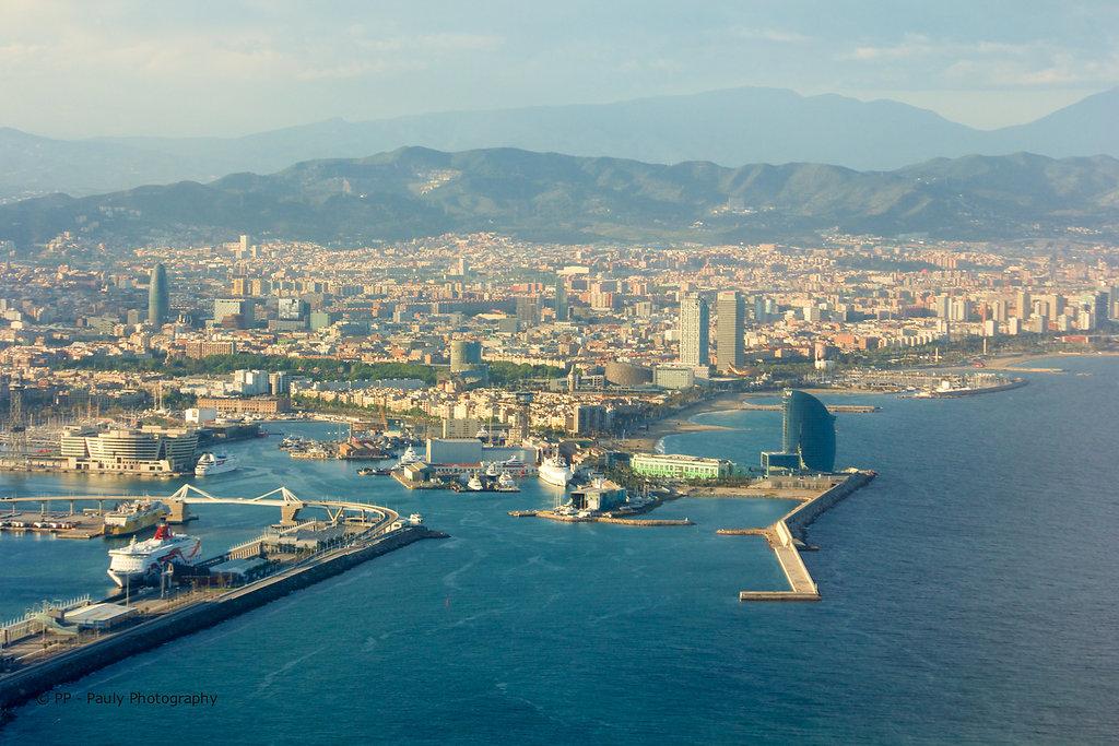 Barcelona aus der Luft