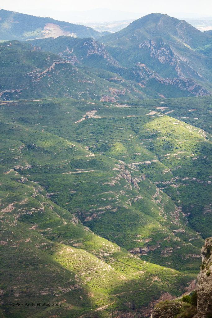 Blick vom Kloster Montserrat