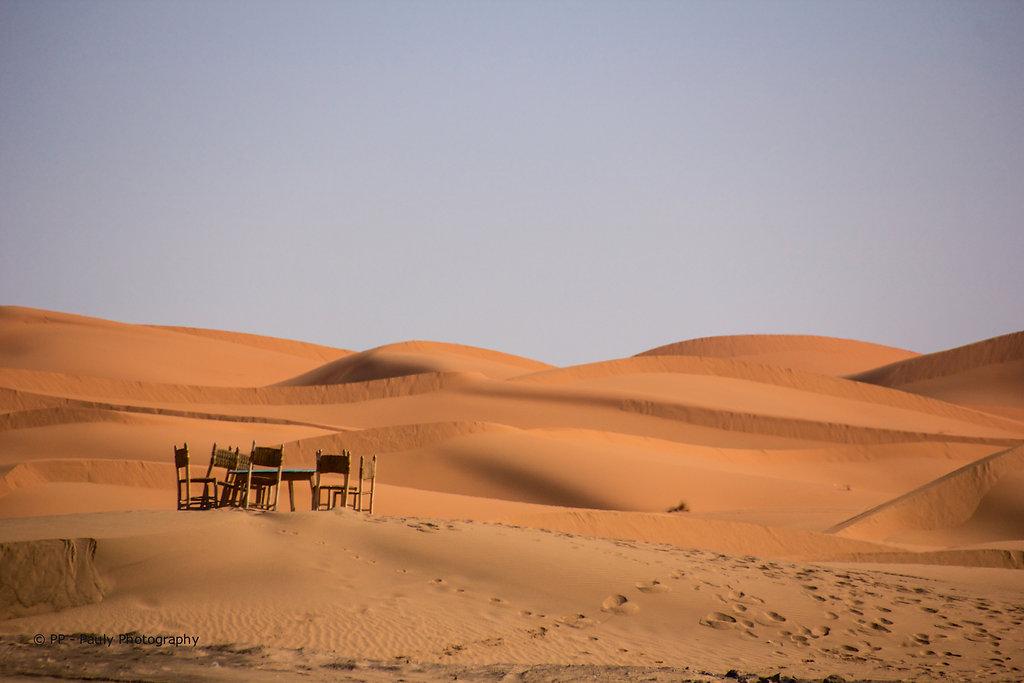 Die Wüste erwartet uns