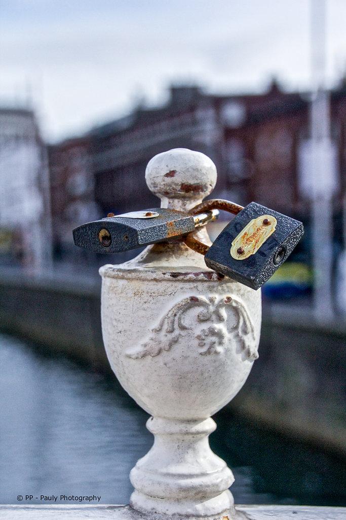 Liebesschlösser in Dublin
